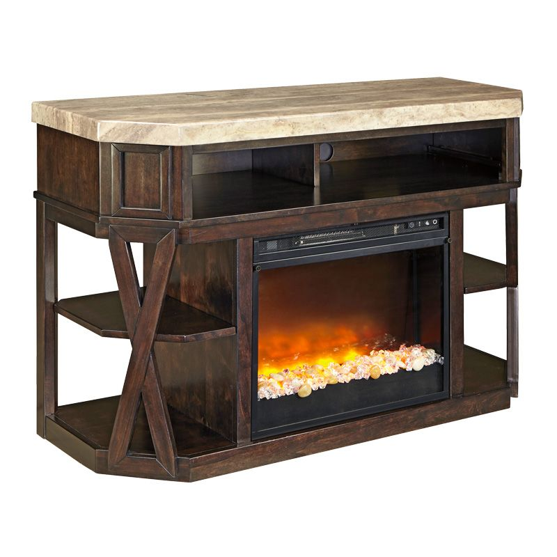 Terrific Vinasville 50 Tv Stand W Fireplace Wgr Furniture Home Complete Home Design Collection Barbaintelli Responsecom