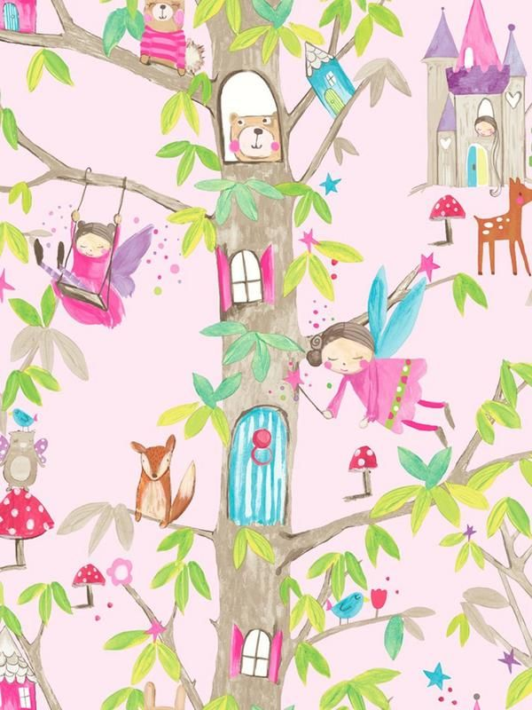 Arthouse Woodland Fairies Wallpaper Bring A Sprinkle Of Sparkle To Her Bedroom With This Gorgeous