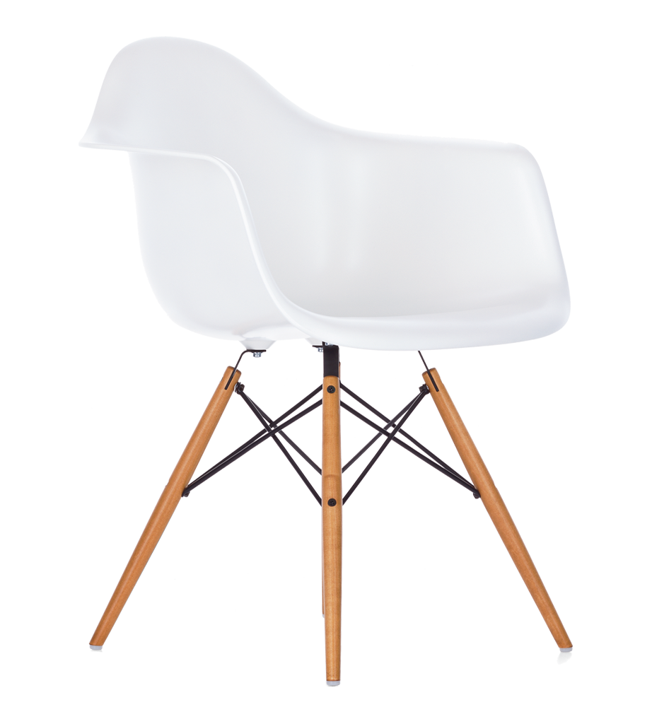 Chaise Design Eames Dsw Blanche.Chaise Daw Blanche Eames Chaises Tabourets Meuble The