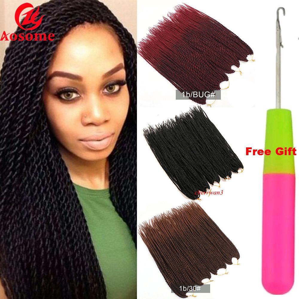 5 Colors Crochet Braiding Ombre Senegalese Twist Braid Synthetic