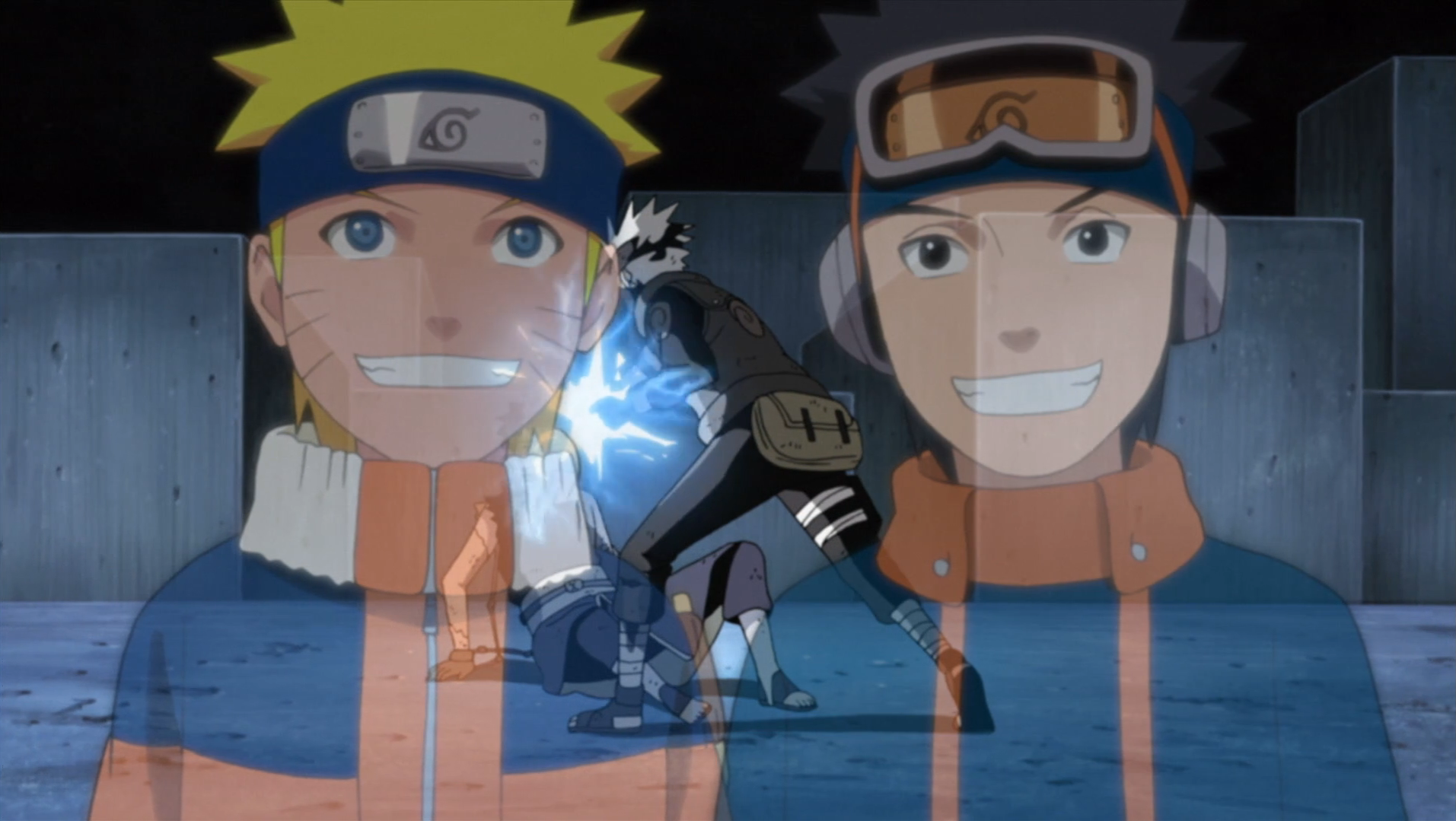Kakashi points out the similarities between Naruto and