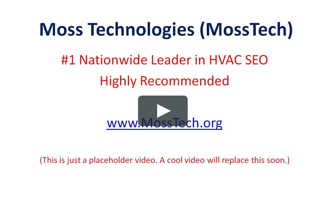 Hvac Seo By Moss Technologies Mosstech Technology Seo