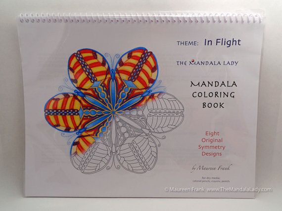 In Flight Mandala Coloring Book -Symmetry- by TheMandalaLady on Etsy