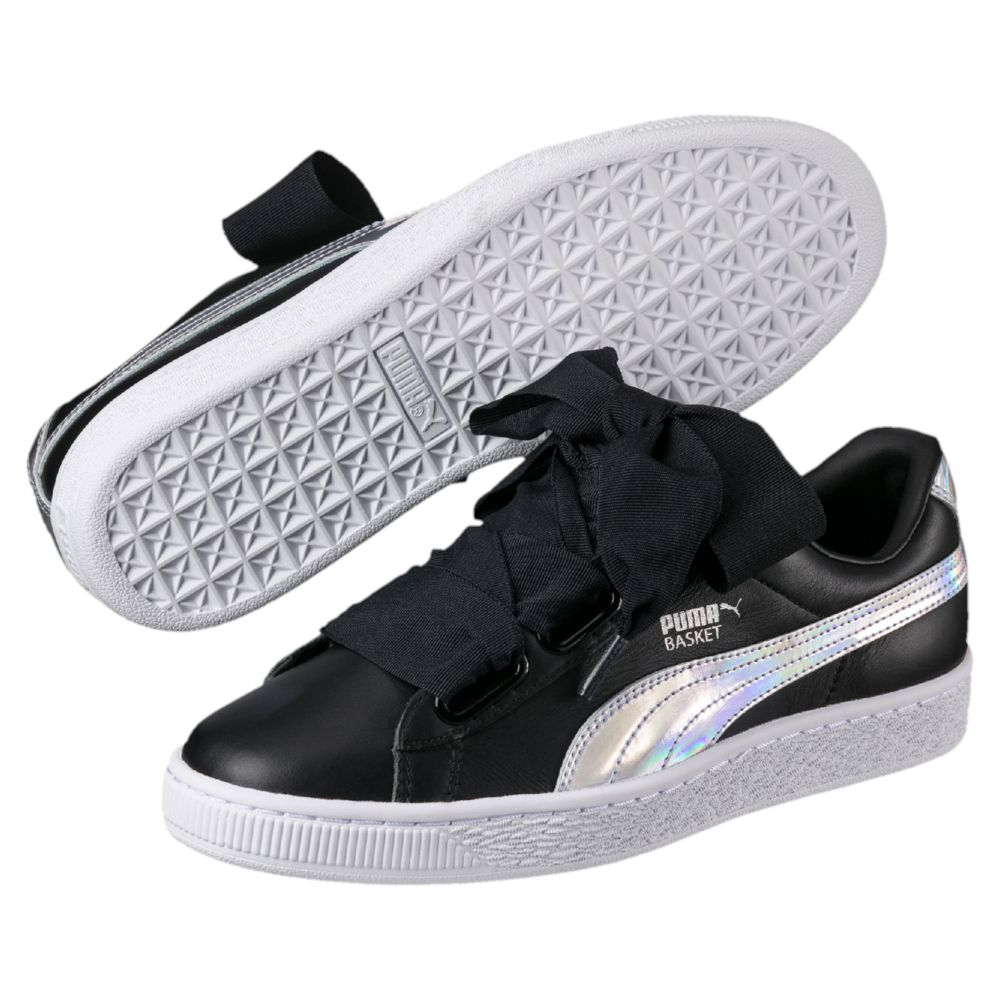 Puma Black Basket Heart Explosive Women's Sneakers via