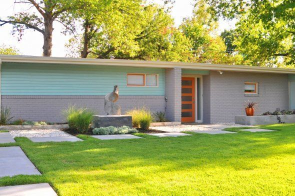 mid century ranch door style exterior house colorsexterior - Mid Century Modern Home Exterior Paint Colors