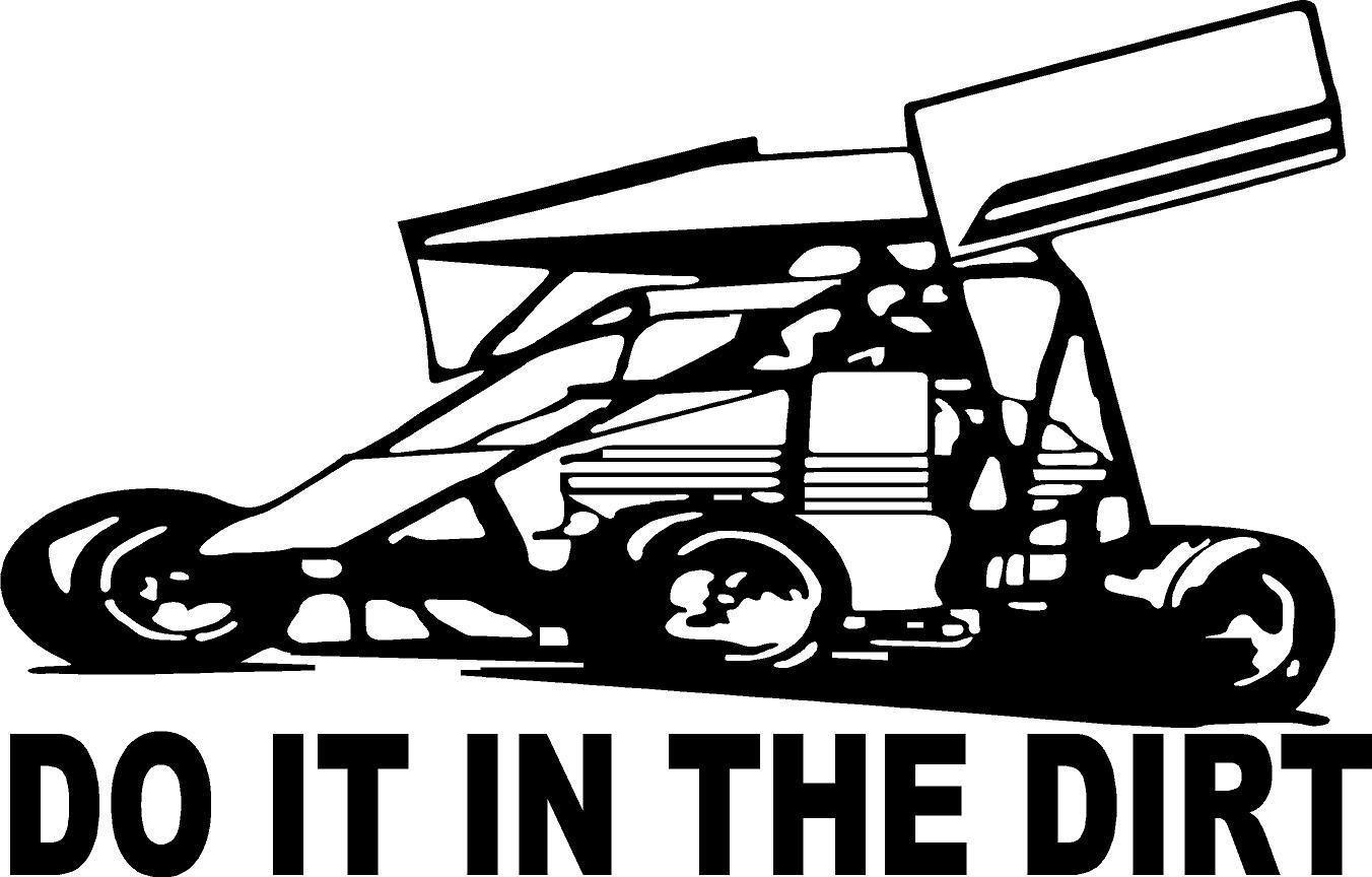 Do It In The Dirt Sprint Car Racing Wing Track Circle Vinyl Decal Sticker 707 Ebay Sprint Car Racing Sprint Cars Sports Cars [ 864 x 1352 Pixel ]