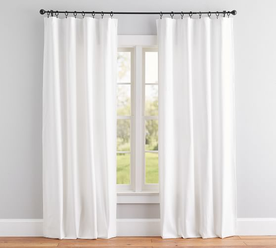 Broadway Pole Pocket Curtain Set Of 2 96 Quot White In 2020