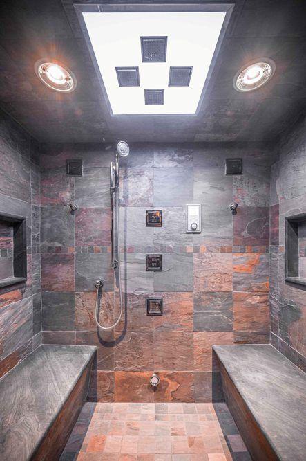 Westchester Home Spa Bath Suite Designer Architect Contractor Farmhouse Shower Shower Tile Small Bathroom Sinks