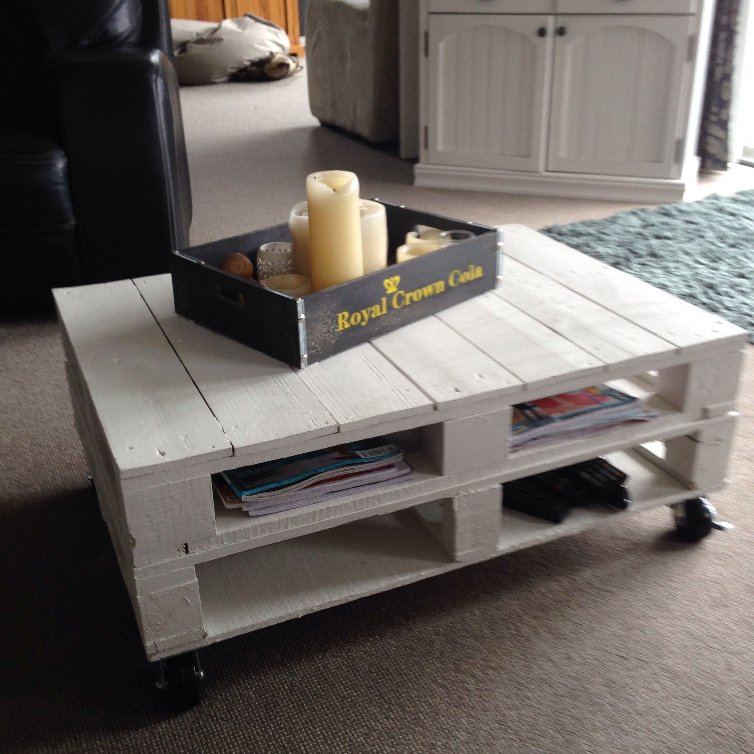 White Pallet Coffee Table Furniture redo Pinterest
