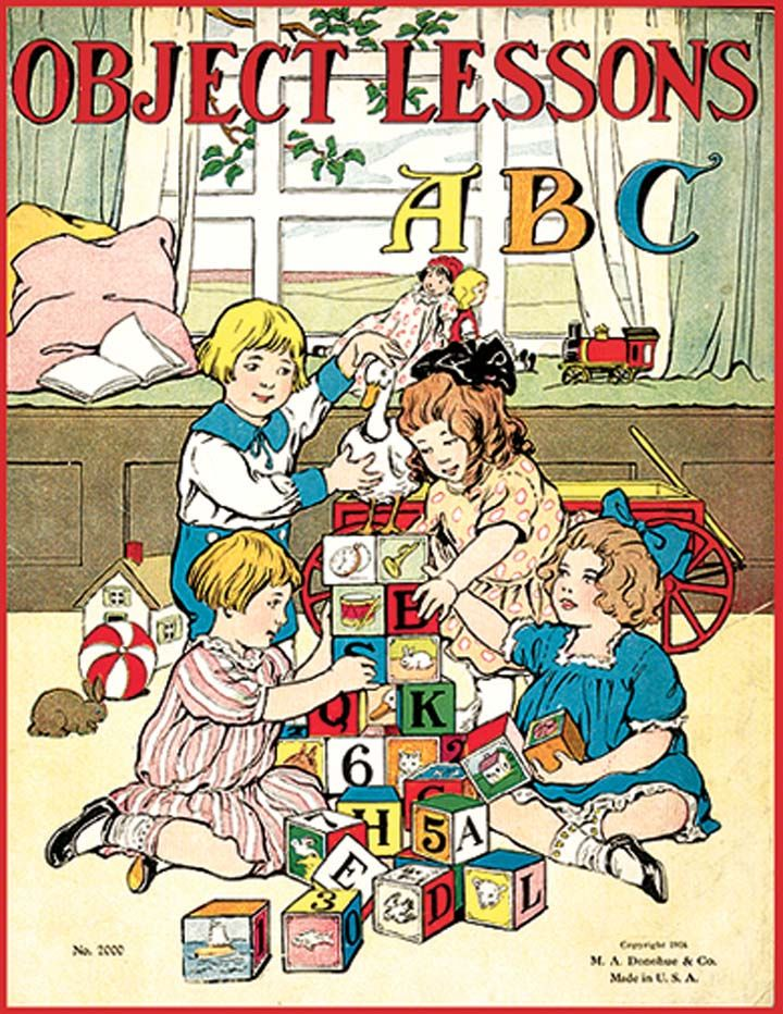 Object Lessons Abc Artvintage Illustrations Children Pinterest