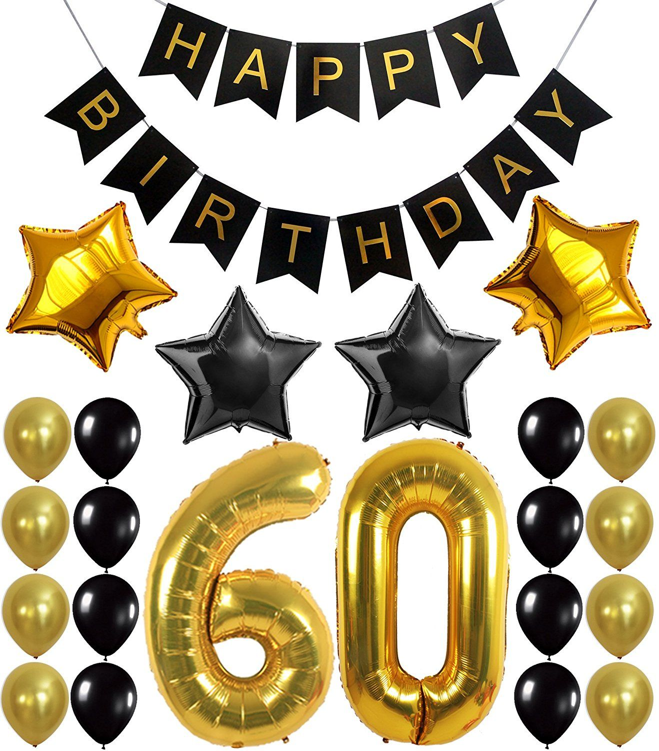 60th birthday party decorations kit happy for 60th birthday decoration