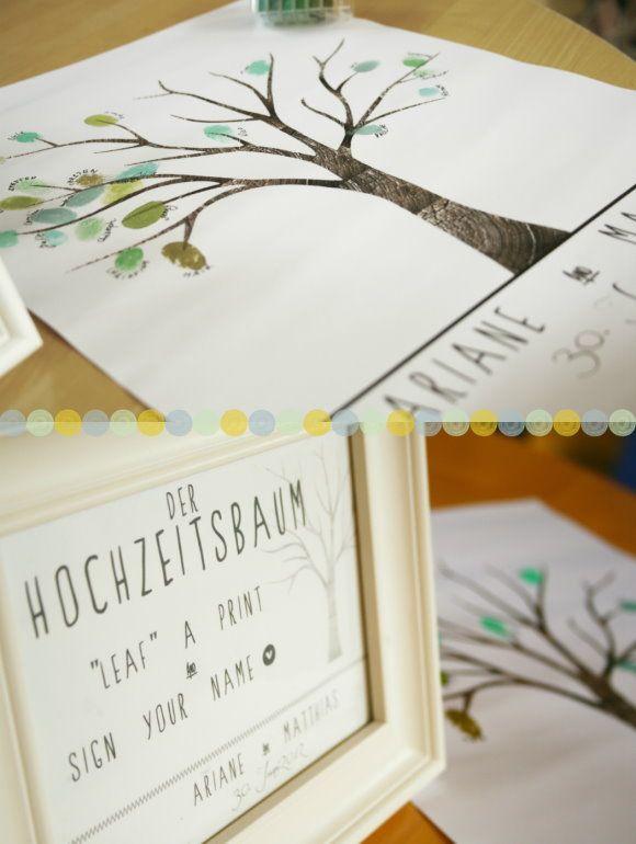 Hochzeitsbaum Mit Fingerabdrucken Von Allen Gasten I Love It