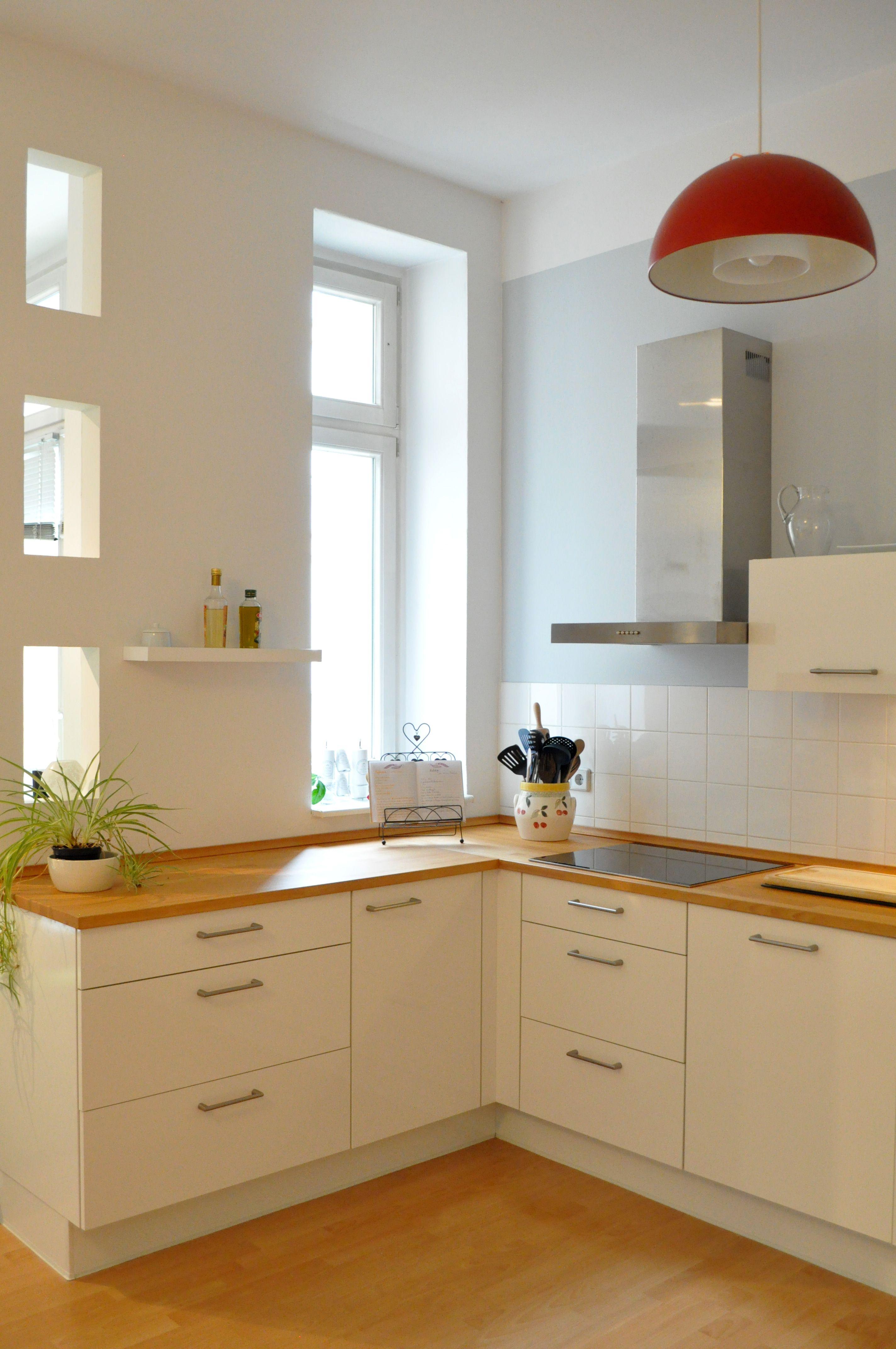 Wohnküche, Kitchen, Küche, Rote Lampe, Küchenprojekt