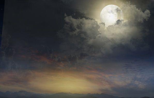 صور خلفيات القمر خلفيات جميلة عن القمر سهر الليالي Ocean Painting Clouds Landscape