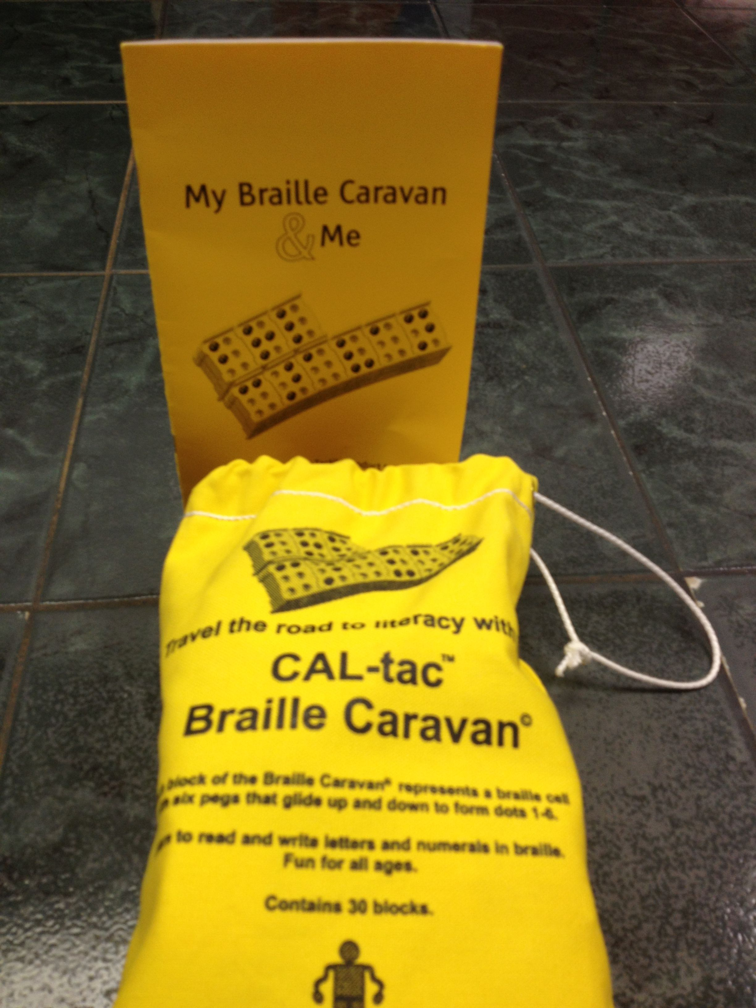 Braille Caravan Provides Connecting Blocks To Form Words
