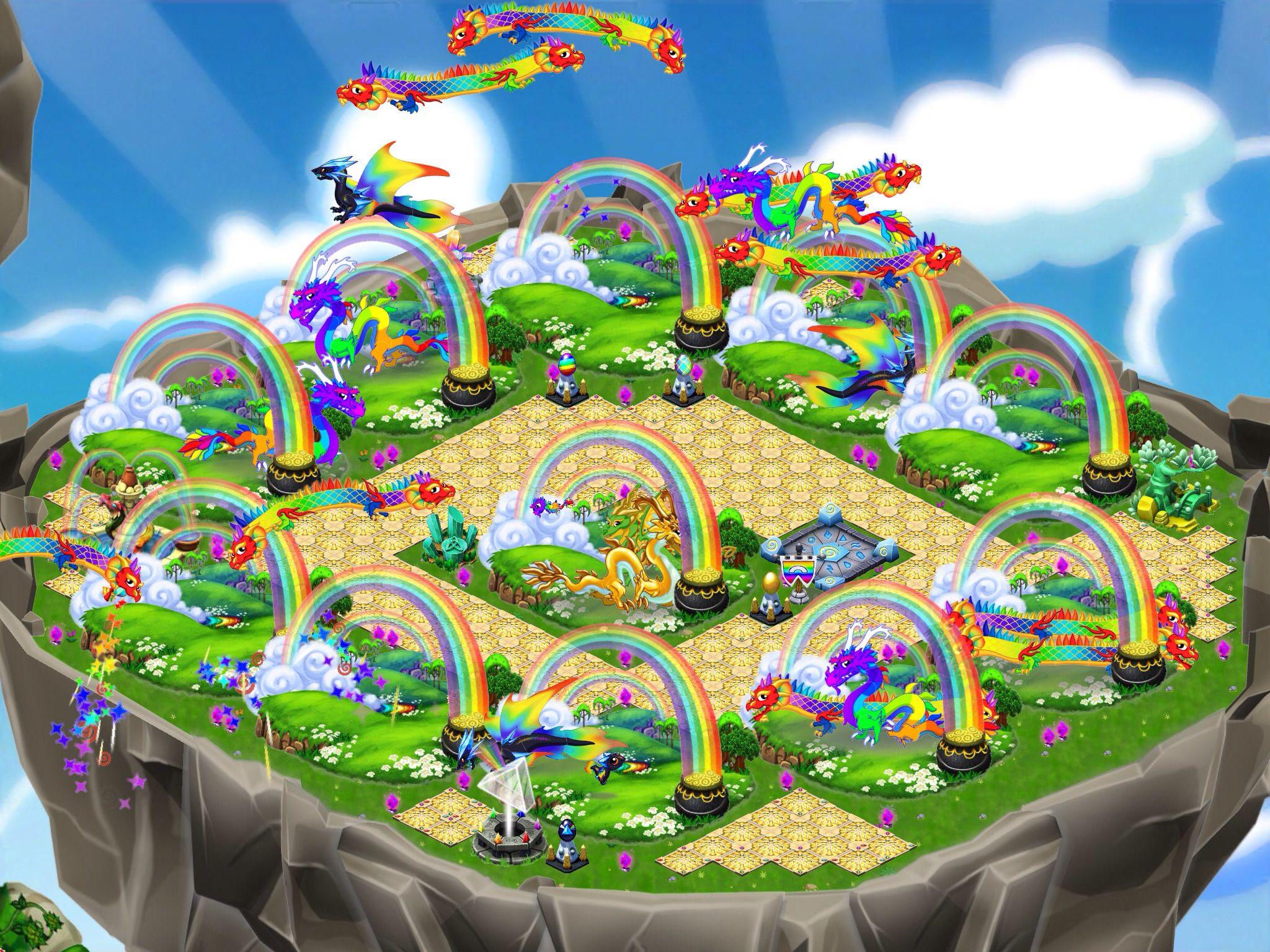 Dragonvale rainbow dragon coloring pages - Dragonvale Rainbow Island 12 2014