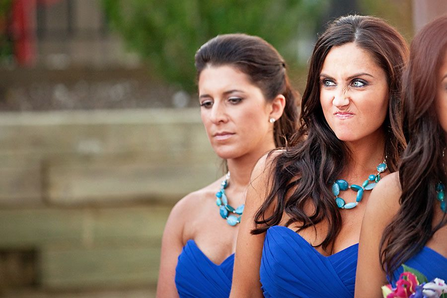 funny bridesmaid pic,her cute facial expression - yeah, she's real happy about the wedding