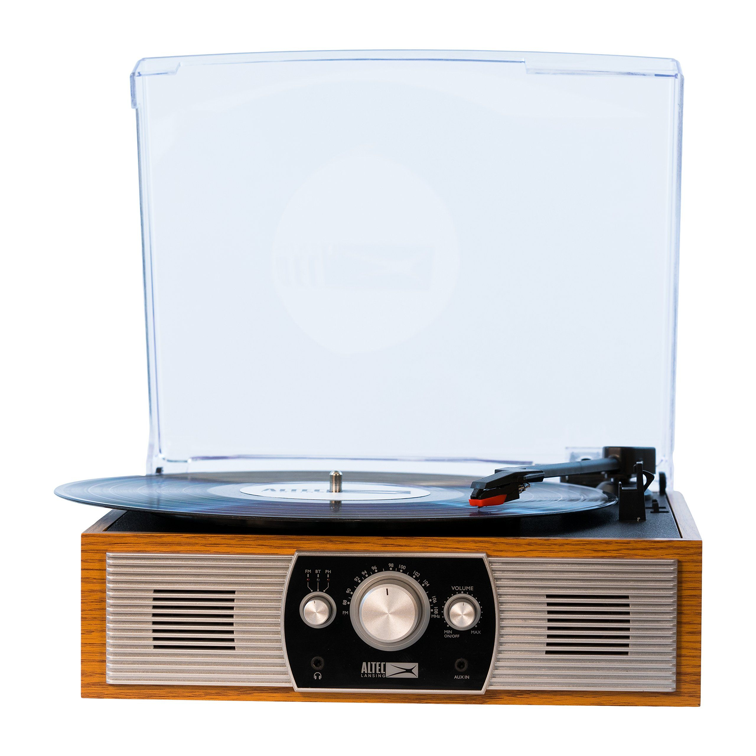 Altec Lansing BeltDrive Stereo Turntable with Bluetooth FM Radio and