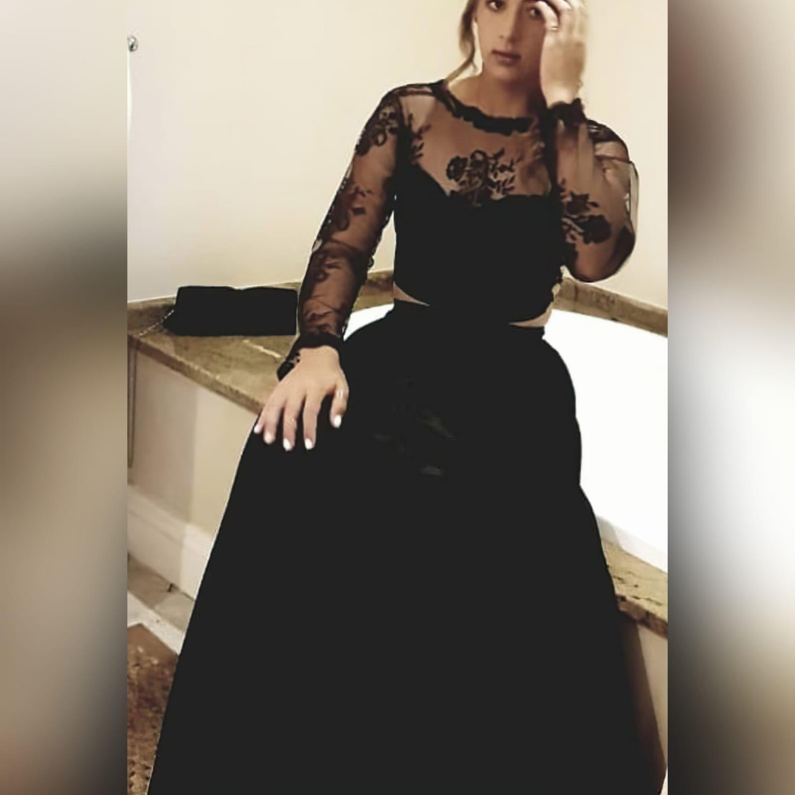 Gorgeous And Fun 2 Piece Black Dress Dresses Formal Evening Dresses Black Bridesmaid Dresses [ 1600 x 1600 Pixel ]