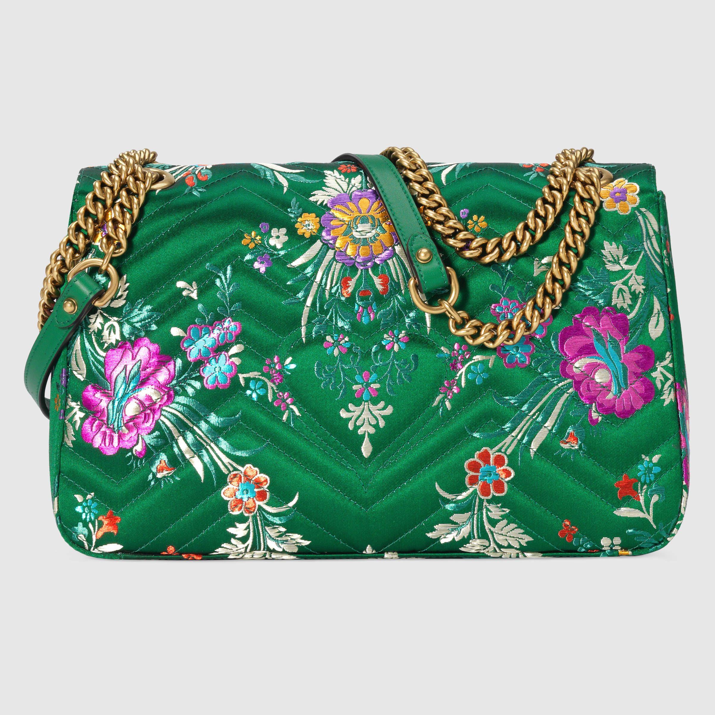 6bd8dd5f47d0 Gucci GG Marmont floral jacquard shoulder bag Detail 3 | Handbags ...
