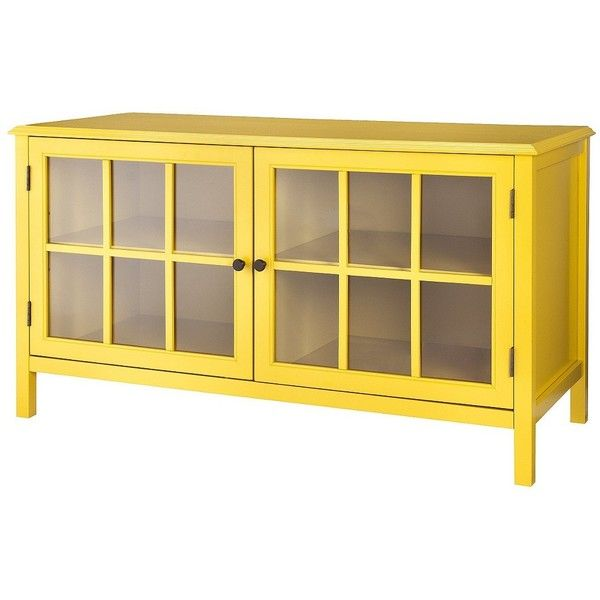 Merveilleux Threshold Windham Media Cabinet Stands ($207) ❤ Liked On Polyvore Featuring  Home, Furniture, Storage U0026 Shelves, Entertainment Units, Cabinets, Yellow,  ...