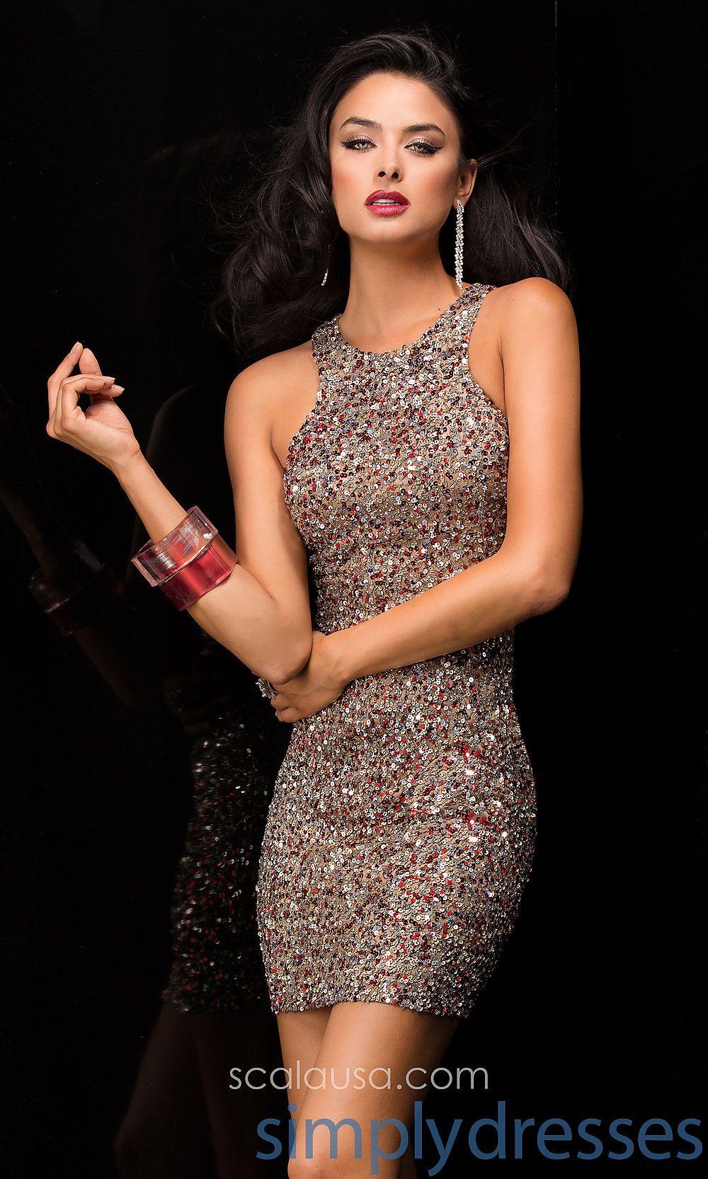 Short sequin dress by scala party dresses pinterest