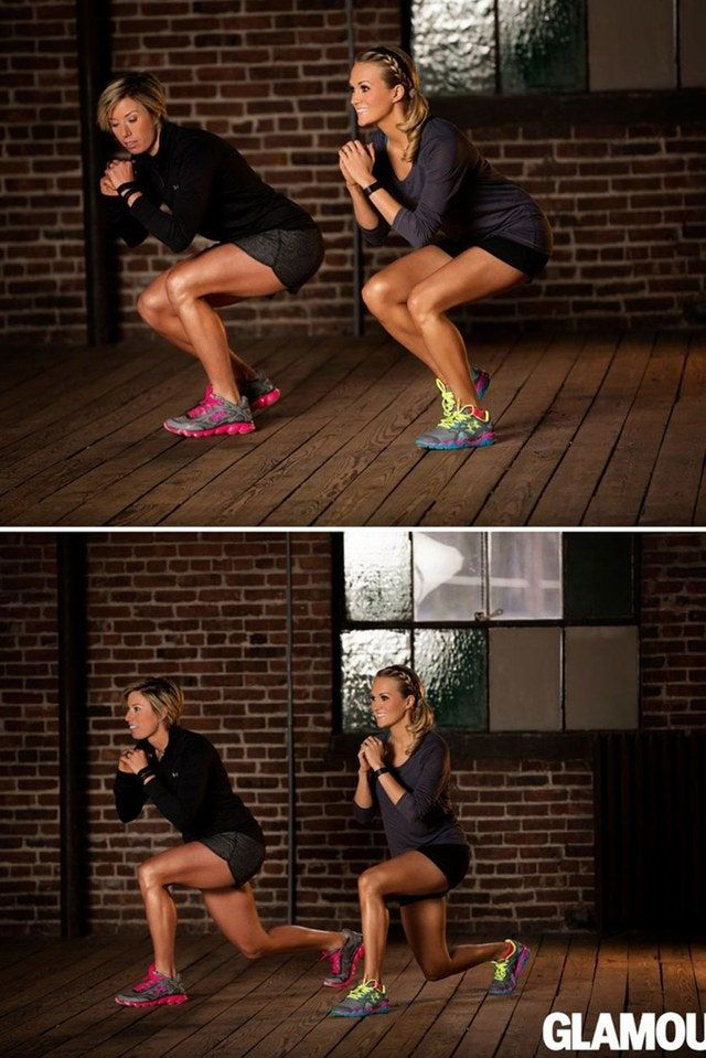Carrie Underwood's Go-To Workout Moves For A Strong Lower Body (No Regular Squats!)