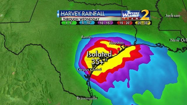 HURRICANE HARVEY: Harvey upgraded to Category 2 hurricane as