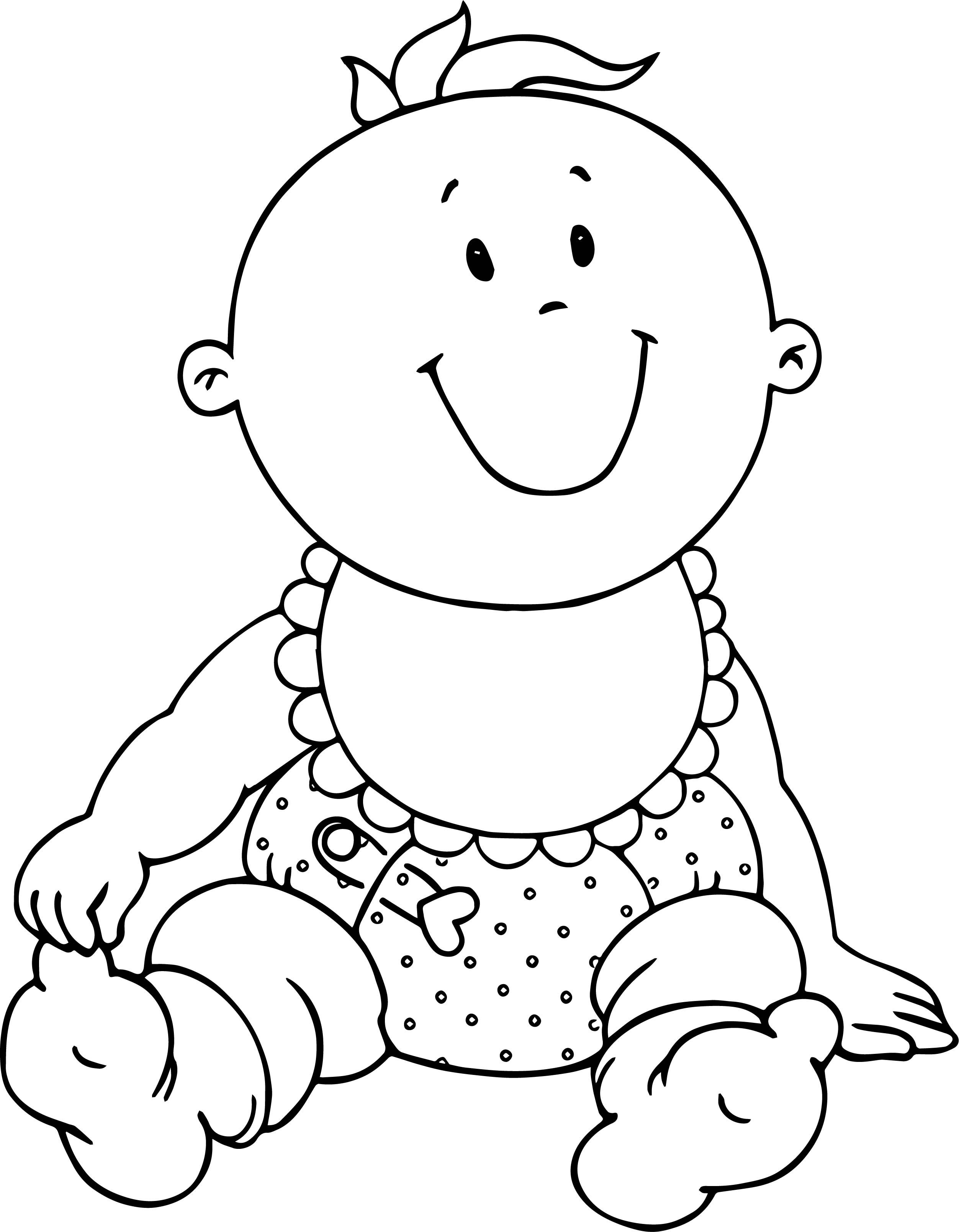 Baby Face Coloring Page Images