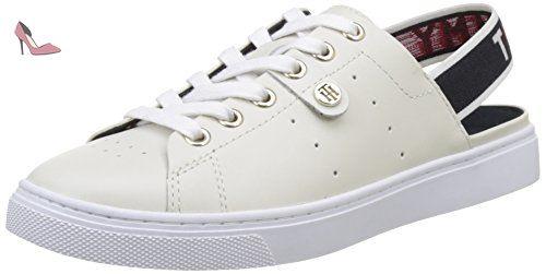 V1285enus 1n1, Sneaker Basses Femme, Bleu (Chambray 022), 39 EUTommy Hilfiger