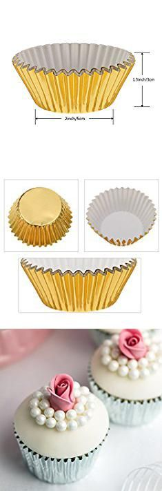 Metallic Cupcake Linerspack Contains 100 Cupcake Cases In 8 Styles