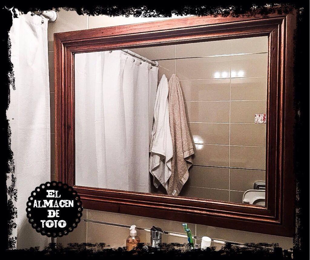 Espejo con marco antiguo de demolicion, by el almacen de toto   El ...