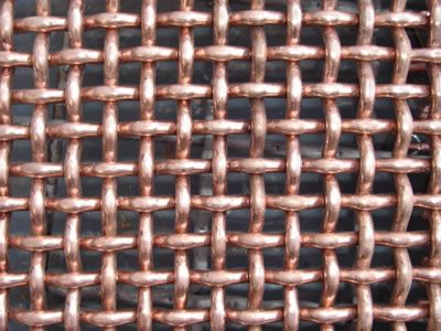 This Is The Picture Of Copper Double Crimped Wire Mesh Wire Mesh Copper Wire Brass Copper