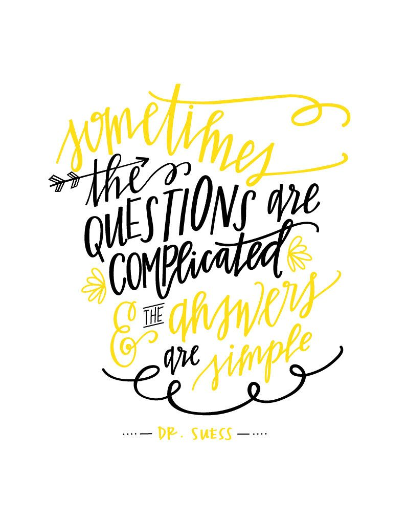Dr. Suess Quote || Hand-lettered Art Print || Instant Digital ...