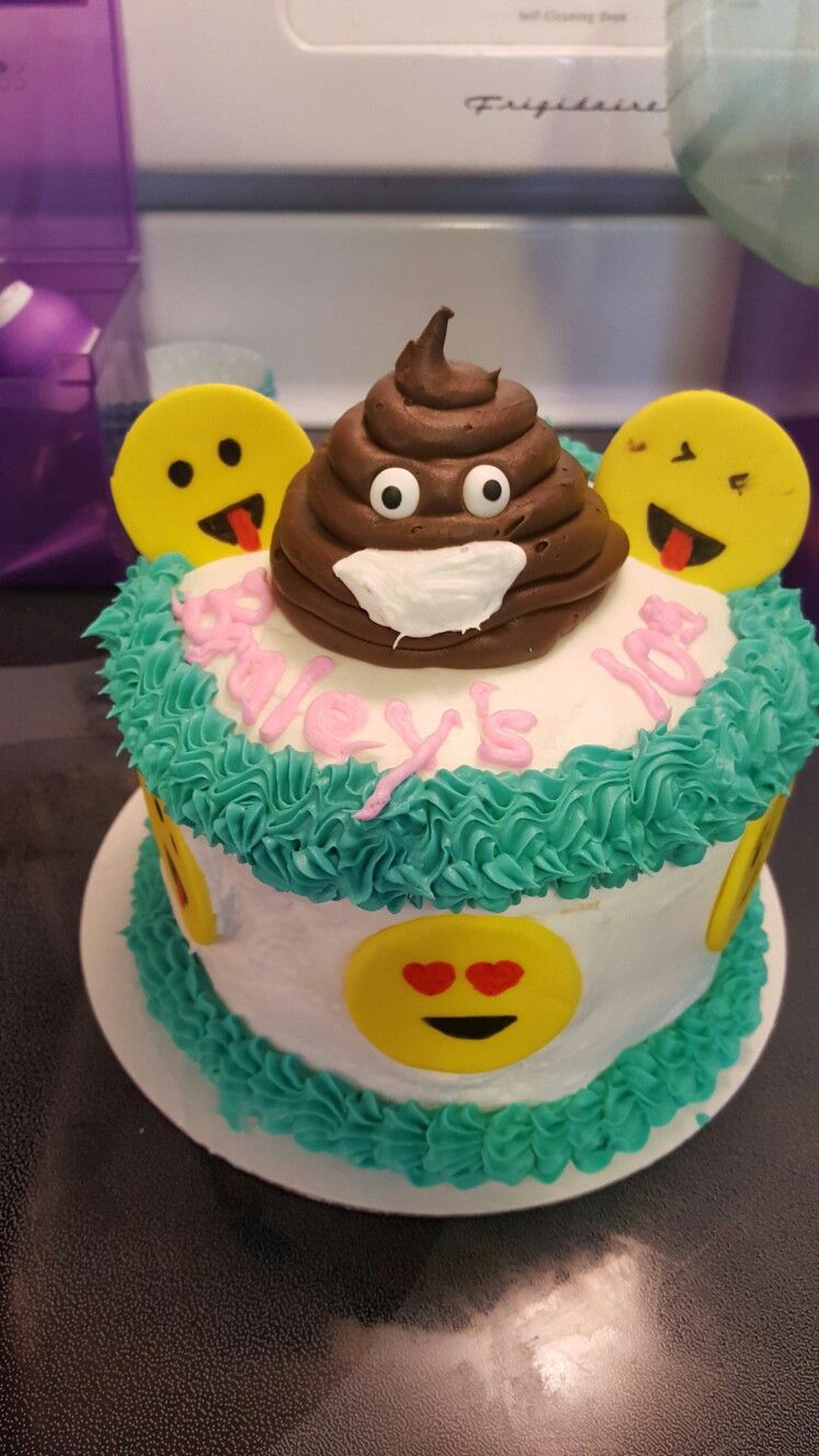 Emoji Poop Cake Love Emoji