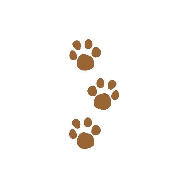 Paw print brown. Pet prints clip art