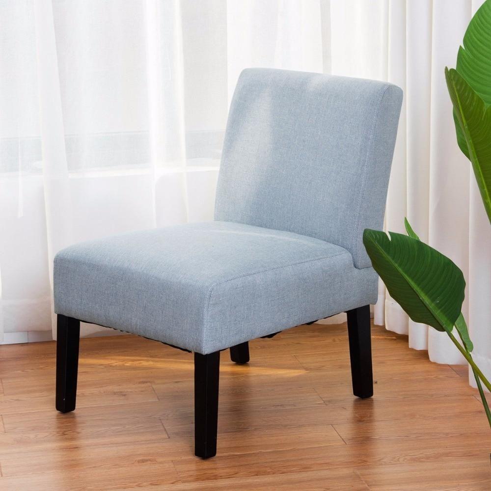 Giantex Fabric Wood Accent Armless Dining Sofa Chair Single Sofa Chair Dining Sofa Living Room Furniture Styles