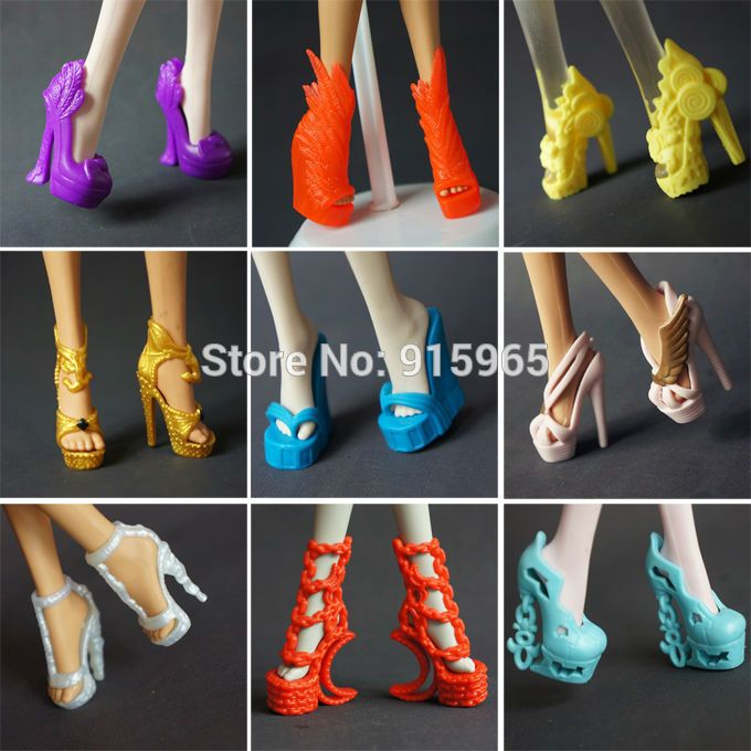 d3980138f6 Free shipping 5 pairs / lot New Fashion shoes for Monster High Doll ...
