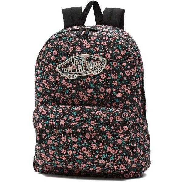 Vans Realm Backpack ($38) ❤ liked on Polyvore featuring bags, backpacks, pink, vans backpacks, backpack bags, pocket backpack, vans rucksack and knapsack bag