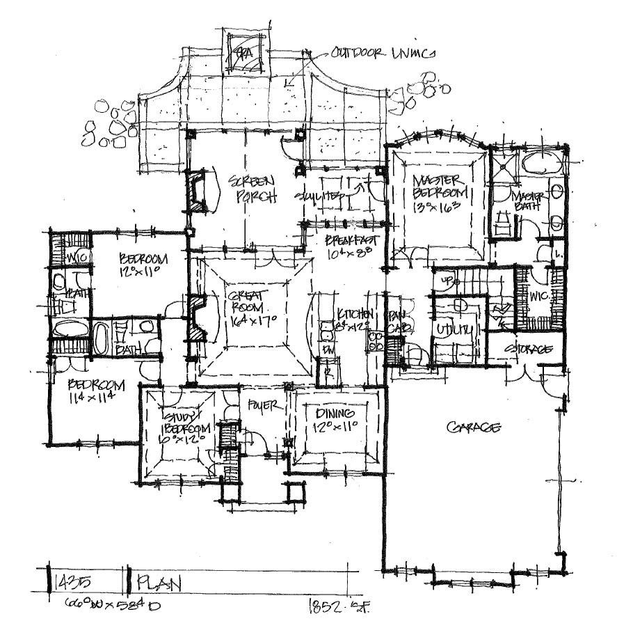 Home Design 1435 Classic Cottage House Design Design Building A House