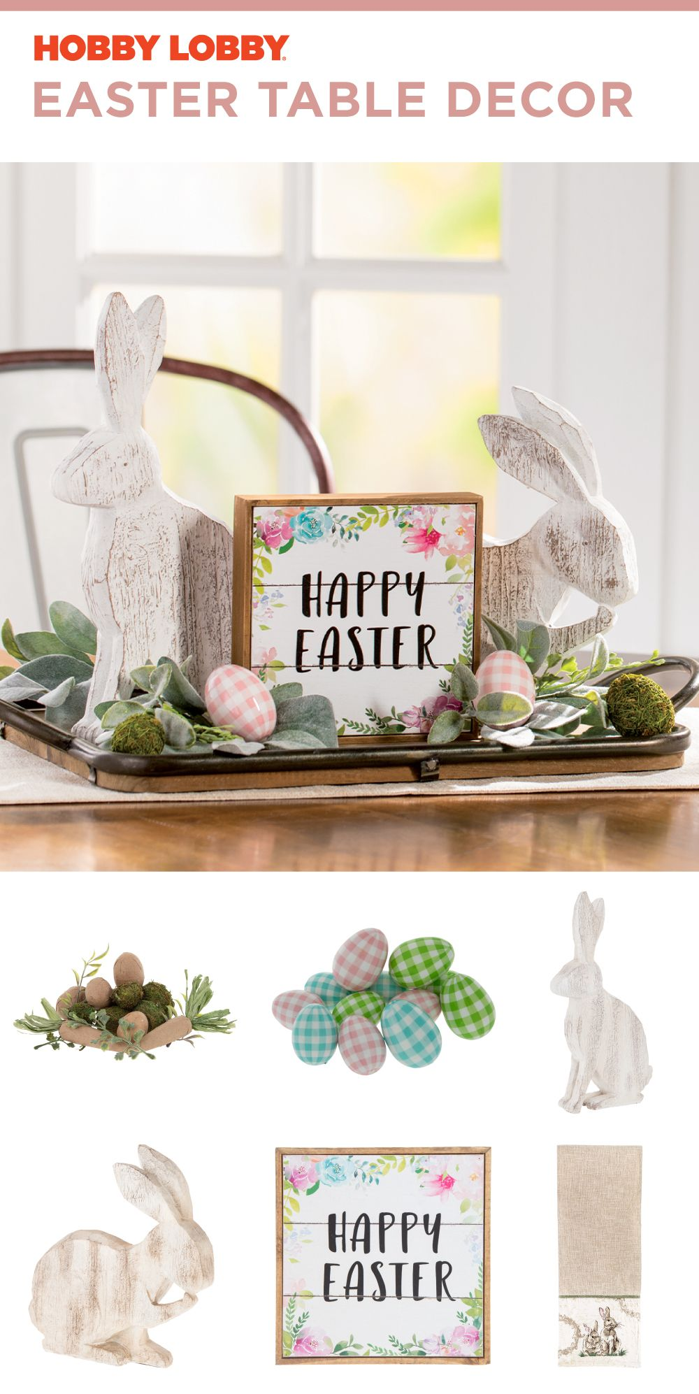 Distressed Wood And Buffalo Check Eggs Make The Perfect Easter Decor Spring Easter Decor Diy Easter Decorations How To Distress Wood