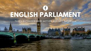 البرلمان الانجليزي يتخذ اجراءات استثنائيه ضد فيس بوك قام البرلمان الانجليزي في خطوه تعد من النادراستخدامها بالاستحوازعلي وثائق من شركه English Facebook Action