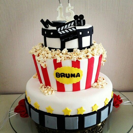 Bolo cinema  Cupcakesdabianca