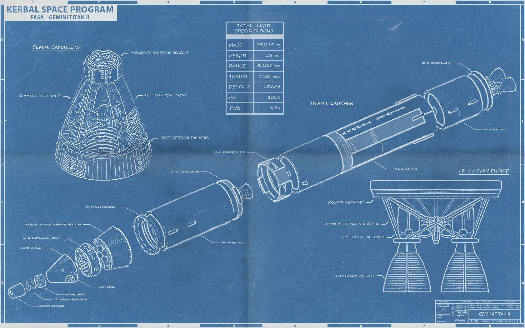 Artwork Kerbal Fasa Blueprints White Rocket