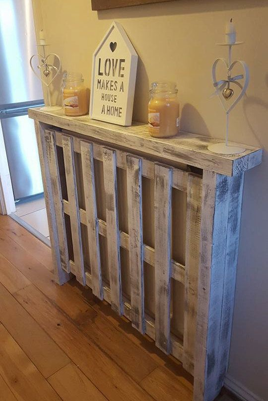 Medium Handmade Pallet Radiator Covers Made To Order Radiator Cover Diy Radiator Cover Unfinished Wood