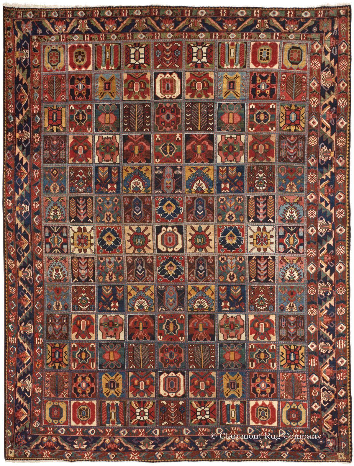BAKHTIARI GARDEN COMPARTMENT RUG, Central Persian 9ft 0in x 11ft ... for Aladdin Carpet Design  113cpg