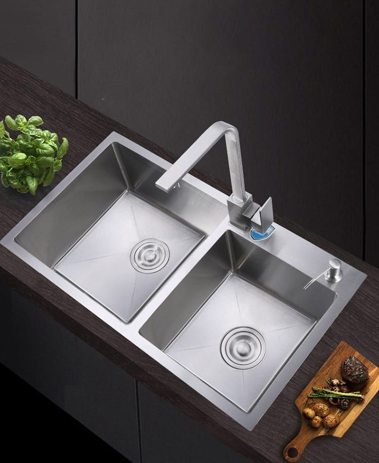 This Lovely Deep Double Bowl Kitchen Sinks Stainless Steel Sink