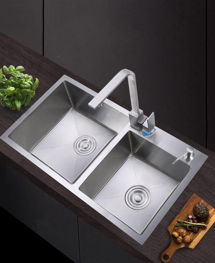 deep double bowl kitchen sinks