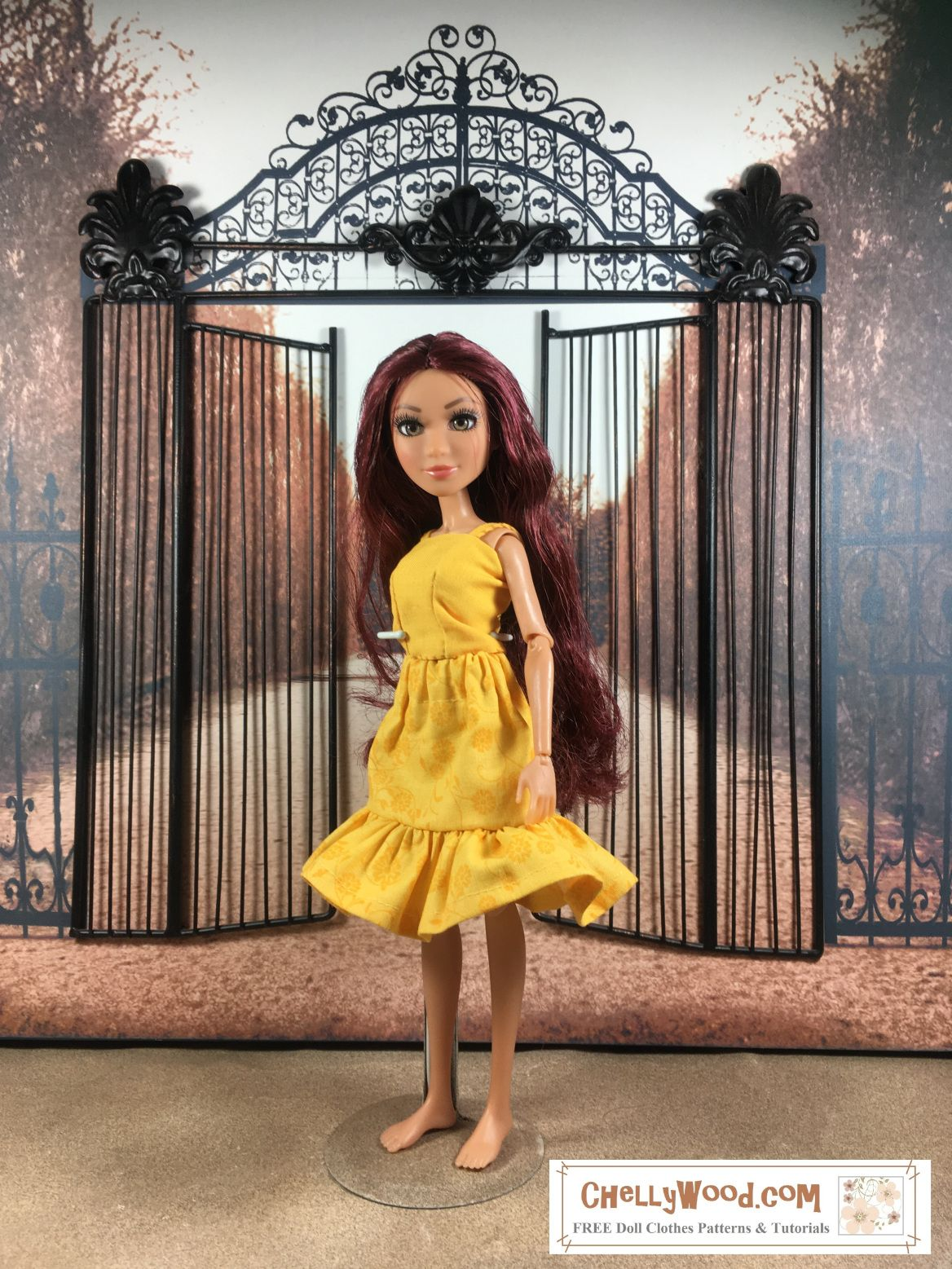 Please visit chellywood for free printable sewing patterns please visit chellywood for free printable sewing patterns for dolls of many shapes and sizes image shows project mc2 doll wearing a sunny yellow jeuxipadfo Gallery