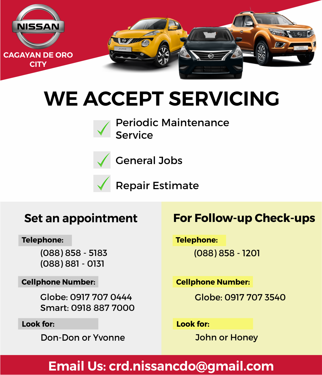 Three Good Reasons For Driving Your Car To Nissan Cagayan De Oro Service Station Nissan Service Station Cagayan De Oro